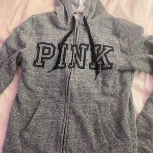 Vs pink zip up hoodie